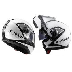 Casco Modulare LS2 FF325 STROBE CIVIK White Black