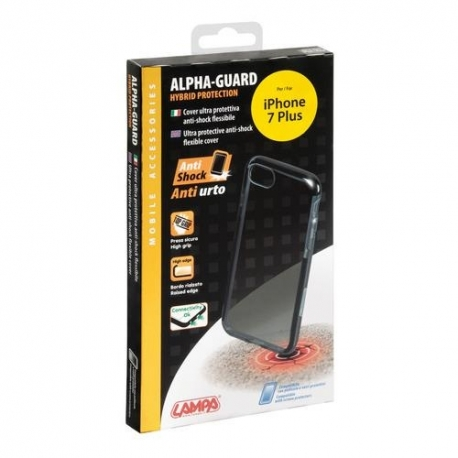 Cover Alpha-Guard IPHONE 7 Plus Nero-Nero