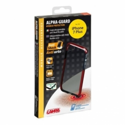 Cover Alpha-Guard IPHONE 7 Plus Nero-Rosso