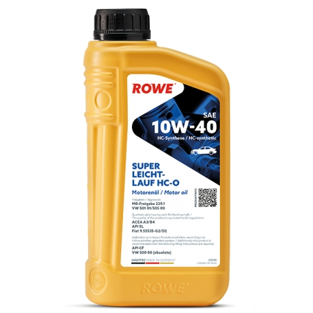 Olio Motore Rowe Hightec Super Leichtlauf HC-O 10W-40 lt 1
