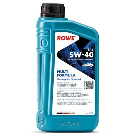 Olio Motore Rowe Hightec Multi Formula 5W-40