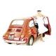TAPPETO GOMMA + MOQUETTE SPECIFICO FIAT F500/126 COL. ROSSO