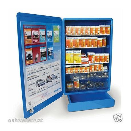Display Armadio Con Cassetti Porta Lampade Auto Philips