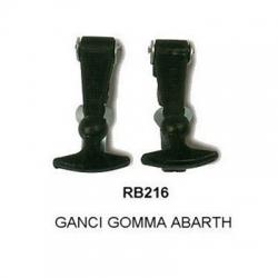 COPPIA GANCI GOMMA ABARTH 0950