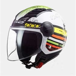 Casco LS2 OF562 Airflow RONNIE  RONNIE (GLOSS WHITE GREEN)
