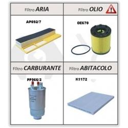 Kit Filtri Fiat Grande Punto, Punto Evo 1.3 Mjet