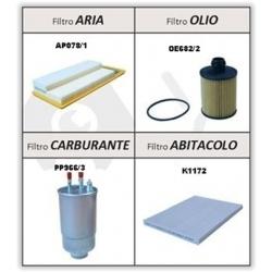 Kit Filtri Alfa Romeo Mito - Fiat Idea, Punto Evo, Punto 2012 K109FT