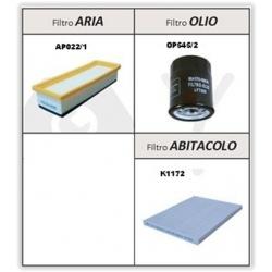 Kit Filtri Alfa Romeo Mito - Fiat Punto Evo, Grande Punto