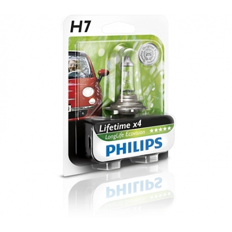 Philips H7 LongLife EcoVision lampadina fari auto